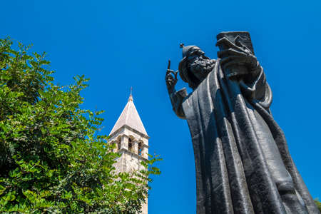 Split, Croatia - Gregory of Nin, statue of the cleric who fought for services and bible in Croatian language, by Ivan Mestrovic