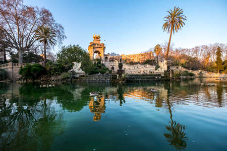 Barcelona, Spain - February 20, 2017: Parc de la Ciutadella, Barcelona, Catalonia, Spain, Europe