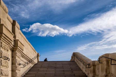 Staiway naar de hemel in Marseille, Frankrijk, Europa