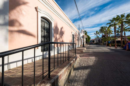 Street in the so-called magical town of Todos Santos in the peninsula of Baja California in Mexico