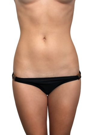 chest women: A female torso isolated on a white background