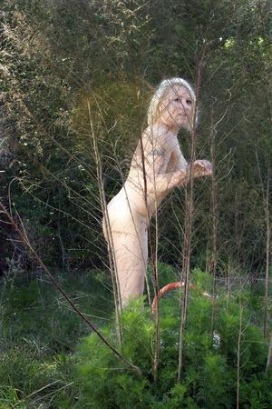 Eine schöne blonde genießt die Natur in ihrem natürlichen Zustand. Standard-Bild - 31477817