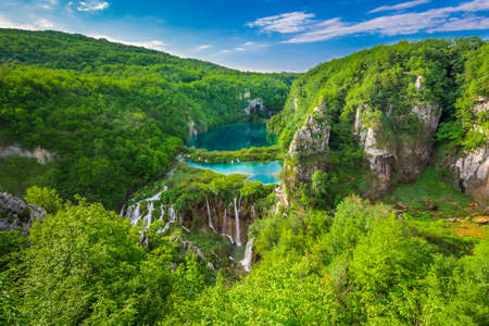 Plitvice Lakes from Vidikovac point, Croatia