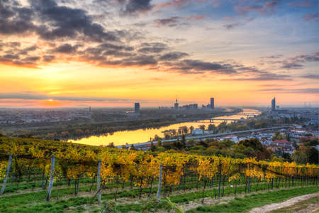 Sunrise over Vienna in autumn Banque d'images