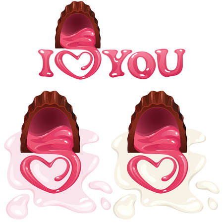 Chocolate love heart Vector