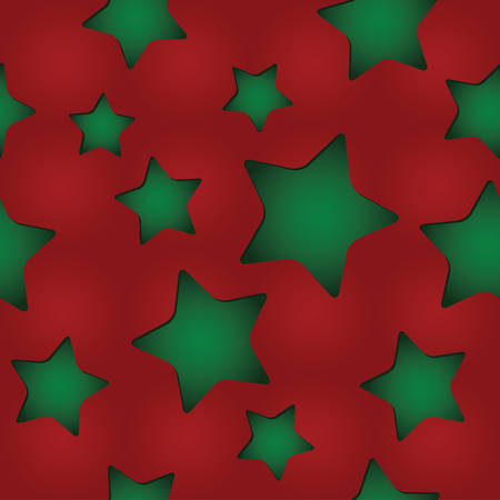 paperhanging: seamless Christmas pattern with clipped stars