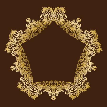 luxurious: vintage luxurious ornate floral gold frame