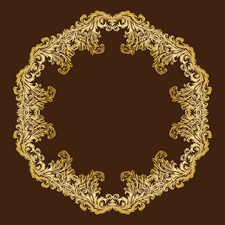 luxurious: Vintage luxurious ornate floral gold frame Illustration