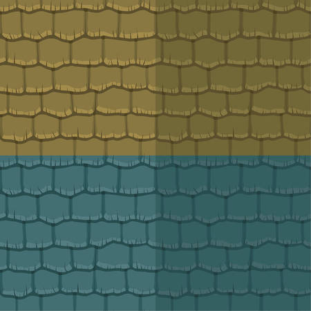 slate roof: Seamless texture slate roof two color. Vector illustration. Architecture pattern