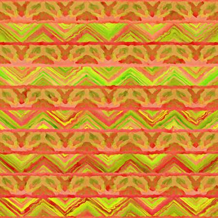 Native watercolor. Ethnic boho style. Seamless draw tribal square texture Reklamní fotografie