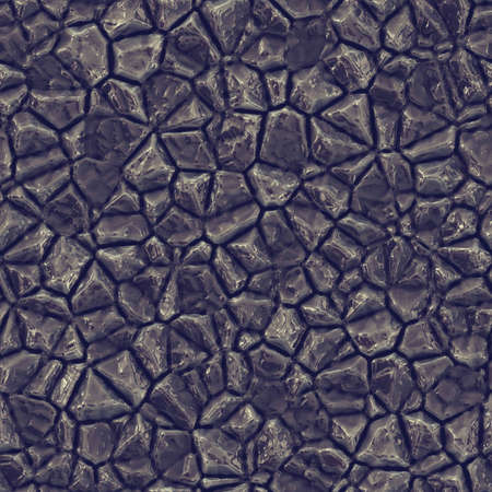 cobble: Seamless texture of crystal or metal colorful reflective raw ore gemstone. Nature tile jewelry glamour background