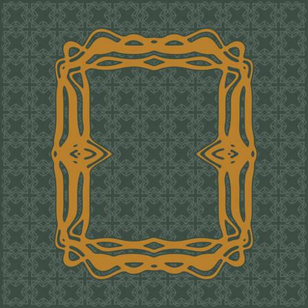 Art Nouveau elegant smooth lines decorative rectangle vector frame for design. Art Deco style fine border ornament Illustration
