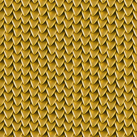 Seamless texture of metallic dragon scales. Reptile skin pattern. Fish scales texture. Shingles roof texture. Background of small triangular reflecting plates Stock Photo
