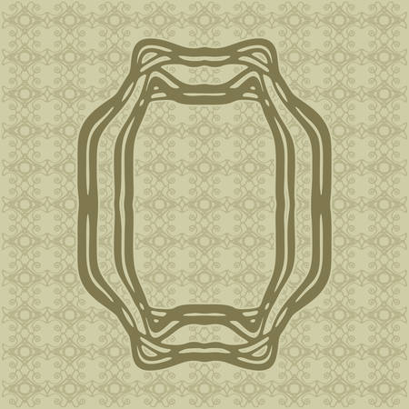 moulding: Art Nouveau elegant smooth lines decorative rectangle vector frame for design. Art Deco style fine border ornament Illustration