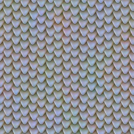 金属のドラゴンの鱗のシームレスなテクスチャ。爬虫類皮のパターン。魚の鱗のテクスチャ。鉄片は屋根のテクスチャです。小さな三角形の反射板