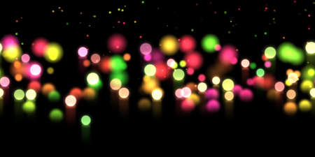 Glow bokeh spray background. Abstract colorful horizontal hero header with glitter particles with depth of field effect Stock Photo