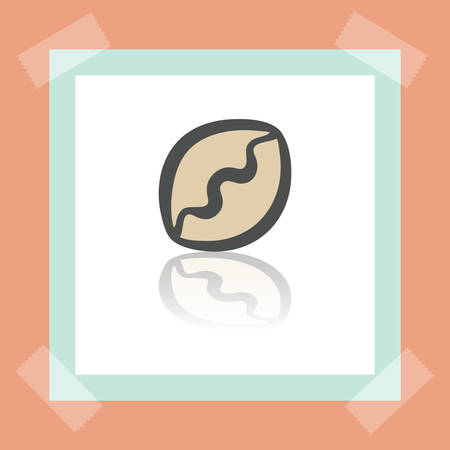 pone: Vector outline pie or dumpling food icon on white sticker. Elements for mobile concepts and web apps. Modern infographic logo and pictogram.