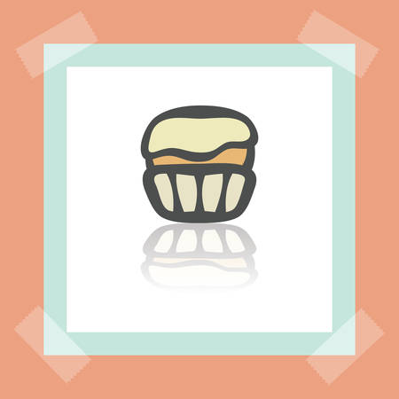 pone: Cupcake icon in a frame.