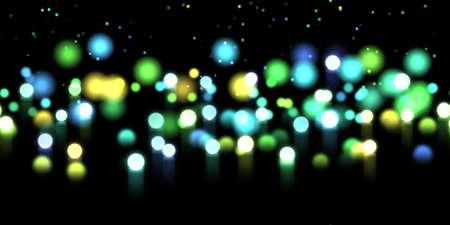 range of motion: Glow bokeh spray background. Abstract colorful horizontal hero header with glitter particles with depth of field effect Stock Photo