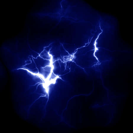 Lightning template for design. Electric discharge in the sky. Thunderbolt nature image Stock Photo