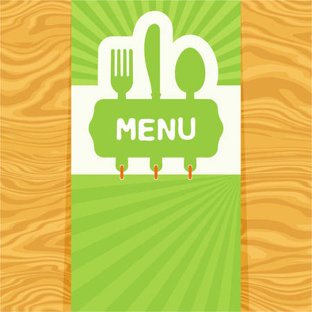 Illustration of restaurant food menu design template.