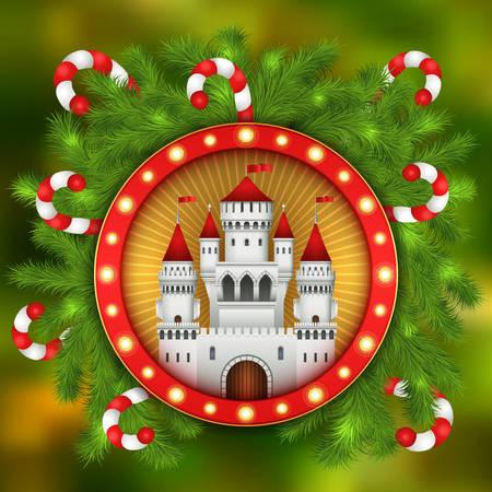 Christmas illustration with celebratory elements vector