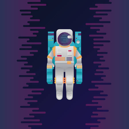 Illustration of astronaut in space.