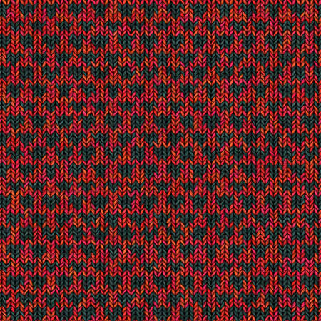 Seamless texture of colorful knitting fabric cloth with loop pattern. Winter and autumn abstract patterned background for design.