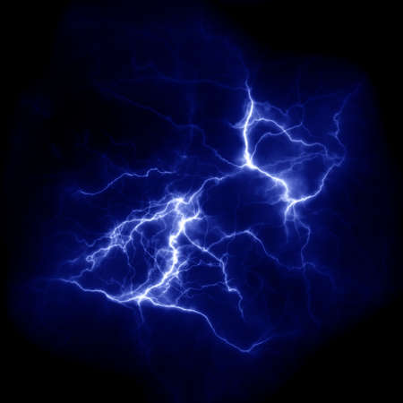 Lightning template for design. Electric discharge in the sky. Thunderbolt nature image Фото со стока