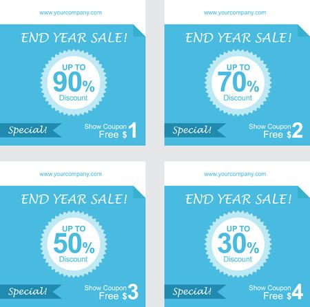 coupon sign: set of coupon discount, gift vouchers