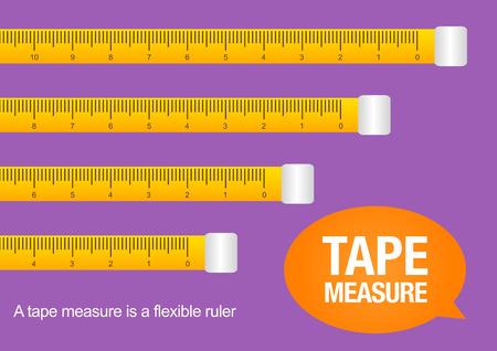 tape measure, vector illustration