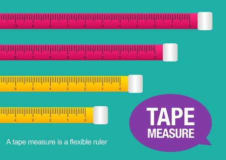 tape measure, illustration