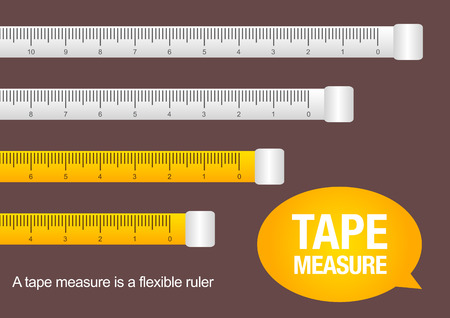 instrument of measurement: tape measure, vector illustration