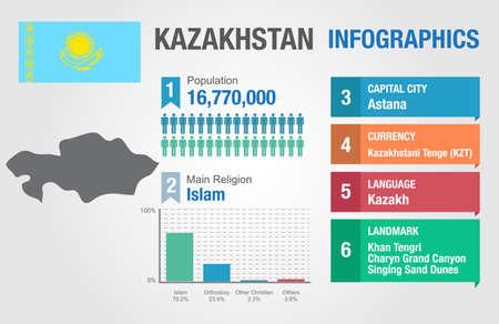 statistical: Kazakhstan infographics, statistical data, Kazakhstan information, vector illustration