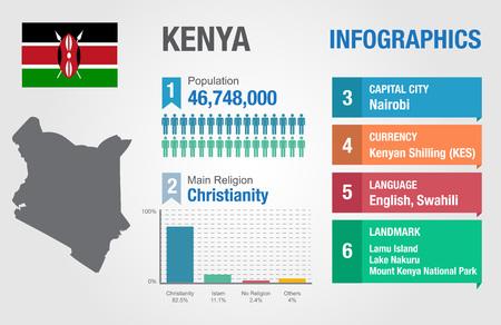 statistical: Kenya infographics, statistical data, Kenya information, vector illustration