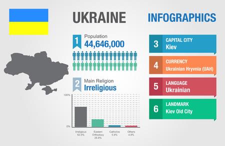 statistical: Ukraine infographics, statistical data, Ukraine information, vector illustration