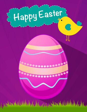 happy Easter pink egg Vector