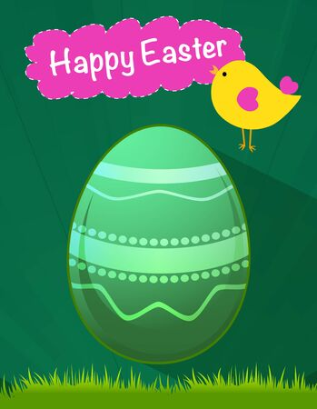 happy Easter green egg vector, Easter holiday, egg vector, green egg Vector