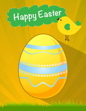 happy Easter yellow egg vector, Easter holiday, egg vector, yellow egg Vector