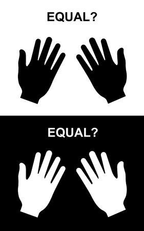 equal to: Equal paper hand, paper-paper, paper hand vector
