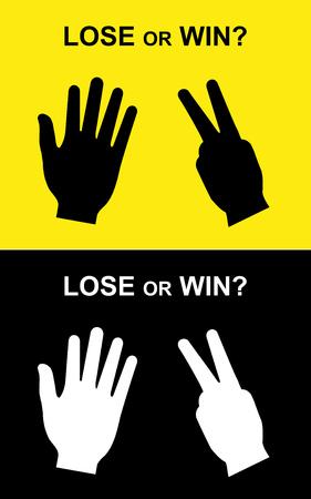 lose: win or lose scissors-paper hand
