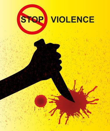 stabbed: stop violence Illustration
