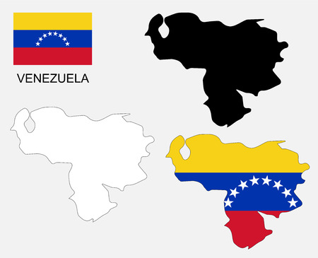 venezuela: Venezuela map and flag