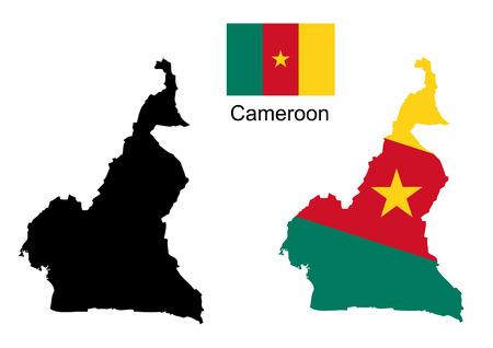cameroon: Cameroon map and flag