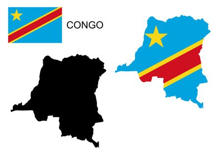 republic of the congo: Congo map and flag