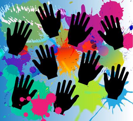 colors paint: paint colors splash and hands