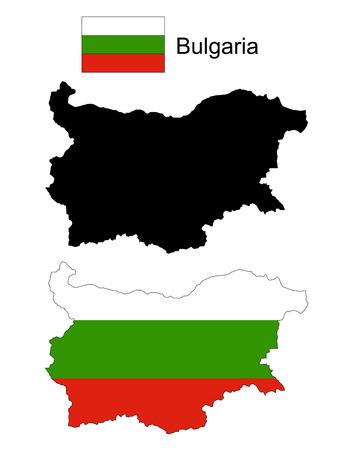 bulgaria: Bulgaria map vector, Bulgaria flag vector