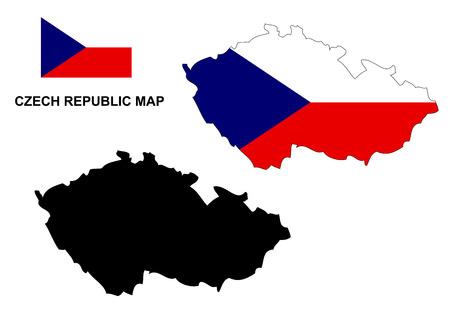 czech republic flag: Czech Republic map vector, Czech Republic flag vector, Czech Republic Illustration