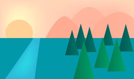 mountain view: mountain and natural view vector