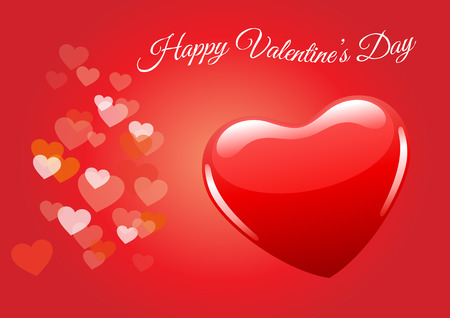 bstract: valentines day, valentine background, red heart vector
